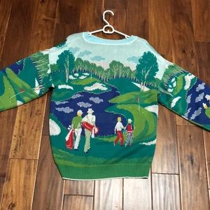 Vintage RARE Golf Course Wool Sweater